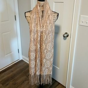 Beautiful Gold Metallic Scarf/Wrap